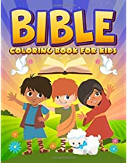 Bible Coloring Book for Kids: 35 Color Pages full of Biblical Stories & Scripture Verses for Children Ages 3-10