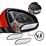 Meirun 360° Rotate Blind Spot Mirror,Wide Angle Adjustable Rear View Mirror HD Glass Convex Back Mirror for Car SUV Universal Fit Stick On Lens (2pcs pack)