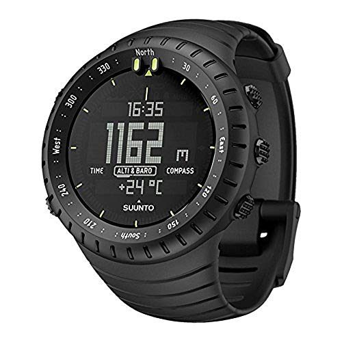 Mens Watch Black Band - SUUNTO Core All Black Military Men's Outdoor Sports Watch - SS014279010
