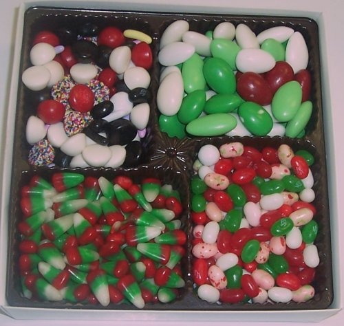Scott's Cakes Large 4-Pack Christmas Mix Jelly Beans, Reindeer Corn, Christmas Jordan Almonds, & Licorice Mix by Scott's Cakes