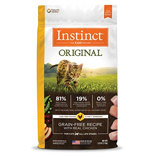 Cheap Instinct Original Grain Free Recipe With Real Chicken Natural Dry Cat Food By Nature'S Variety, 5 Lb. Bag