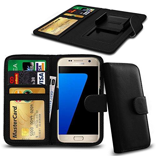 N4U Online® Apple iPhone 3GS en cuir PU clip Cover Wallet Case Avec carte de crédit, Notes & ID Slots - Noir