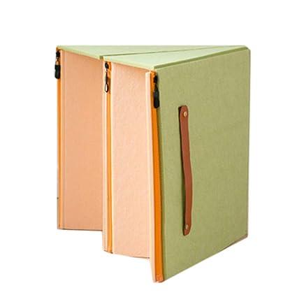 JXM Plegable Silla Papel Plano Plegable Taburete diseñador ...