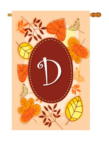 Breeze Decor H130030 D Initial Fall Harvest & Autumn Vertical House Flag, 28″ x 40″, Multicolor Review
