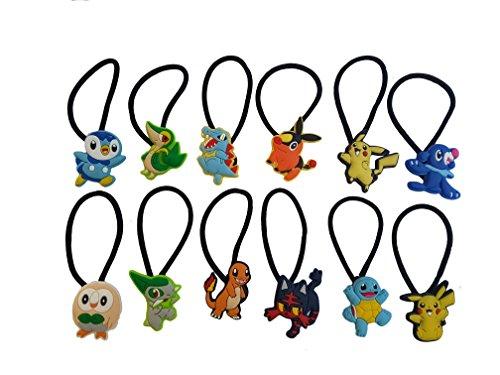 AVIRGO 12 pcs Elastic Hair Bands Hairband Ponytail Set # 116 - 5 - Calem Pokemon Costume