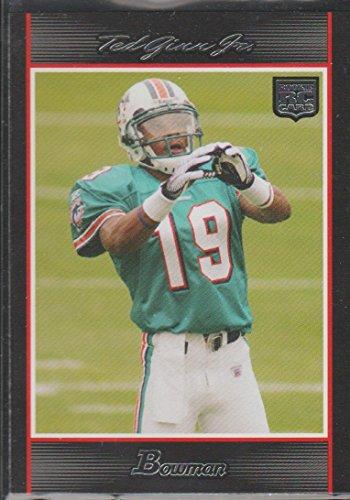 2007 Bowman Ted Ginn Jr. Rookie Football Card #146