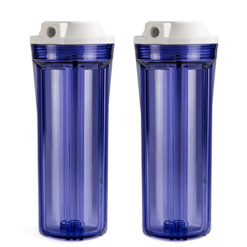 ISPRING HC12X2 Transparent Water Filter Housings 10-Inch RO/Aquarium, 2-Pack by ISPRING