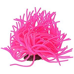 SPORN Aquarium Decoration, Anemone Pink 85
