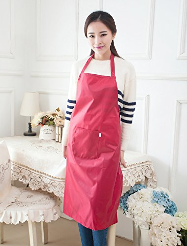 Adult's Water Resistant Kitchen Cooking Bib Apron with Fr...