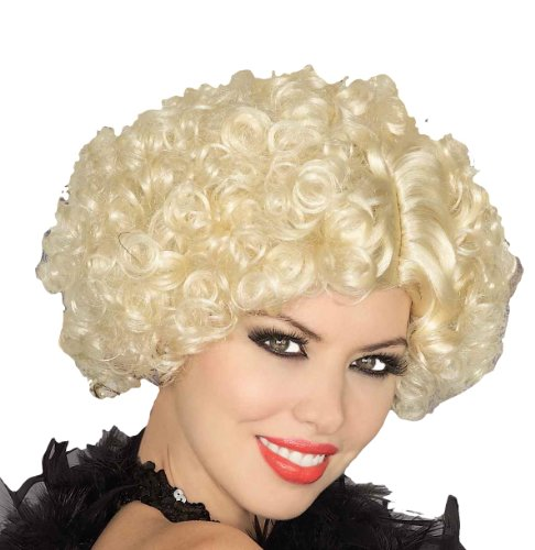 Forum Novelties Women's Short Curly Flapper Costume Wig, Blonde, One Size