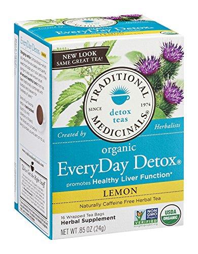 TRADITIONAL MEDICINALS TEA,OG2,EVRYDY DETOX LEM, 16 BAG