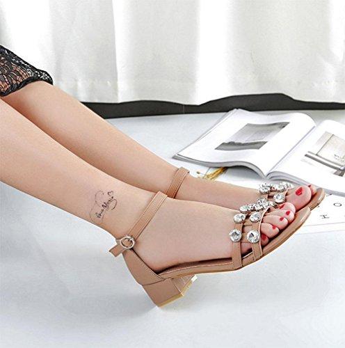 áspero hueco con zapatos de hebilla de diamantes de imitación zapatos casuales de palabras B