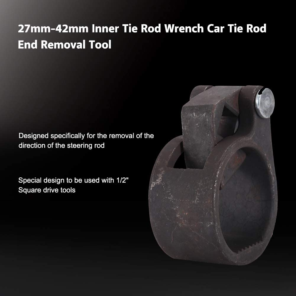 Universal Inner Tie Rod Wrench Steering Track Rod End Removal Tool for Car SUV Truck 27mm-42mm Tie Rod Removal Tool