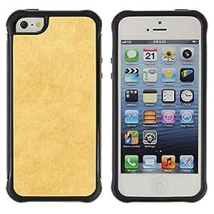 LASTONE PHONE CASE / Suave Silicona Caso Carcasa de Caucho Funda para Apple Iphone 5 / 5S / Yellow Texture
