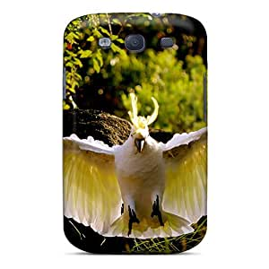 New Premium Flip Case Cover How Amazing Yellow Crested Cockatoo Skin Case For Galaxy S3