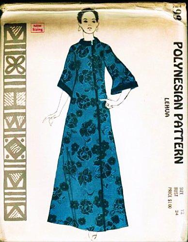 Hawaiian Muumuu Costume (Polynesian Pattern 199 Vintage Hawaiian Lehua Muu Muu Dress, 1960s/70s Vintage Sewing Pattern)