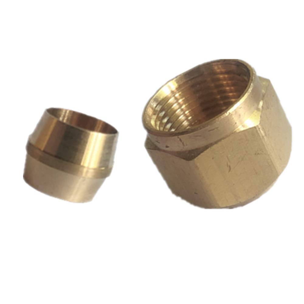 Pack to 5 GaoLing 1//2 Compression Nut//Sleeve