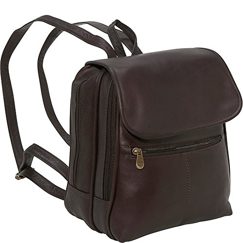 le-donne-leather-everything-womens-backpack-purse-one-size-cafe