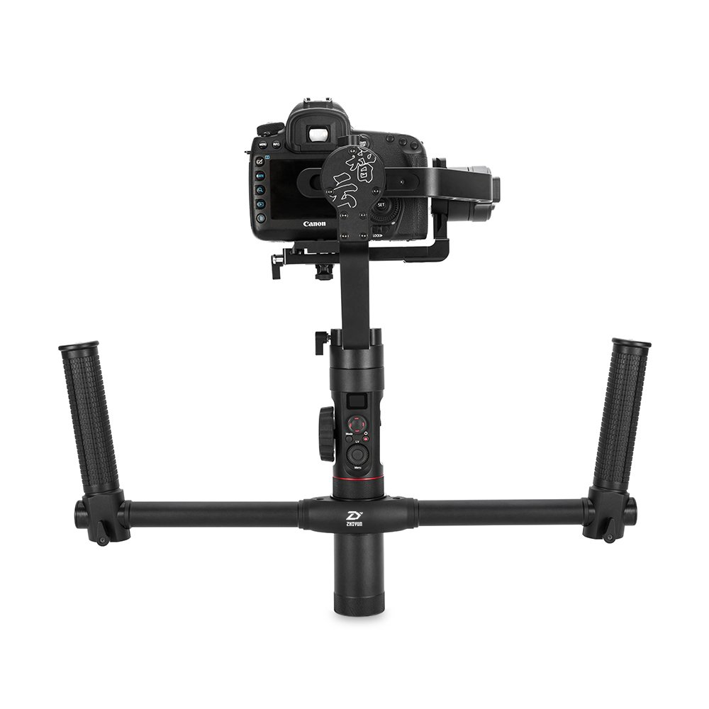 Zhiyun Crane 2 3軸ハンドヘルドハンドルグリップジンバルスタビライザーwithデュアルOLED表示18時間実行時for DSLR CamerasロードUp To 7lbs   B0777BV51K