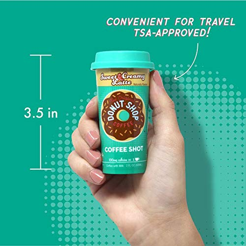Donut Shop Coffee Shots - 100mg Caffeine, Sweet & Creamy Latte, Tasty coffee energy boost in a ready-to-drink 2-ounce shot, Sample by FORTO (Image #4)