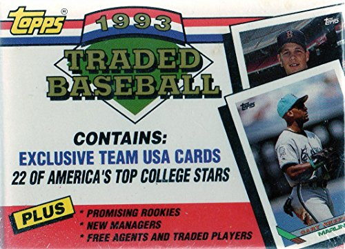 1993 Topps Traded MLB Baseball Factory Sealed 132 Card Set Including Team USA Cards