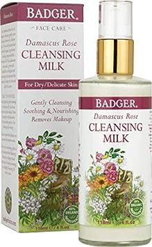 Badger Damascus Rose Cleansing Milk – 4 oz Bottle