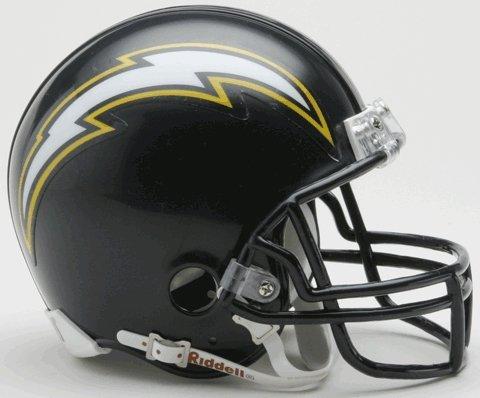 Riddell San Diego Chargers Replica Mini Helmet w/Z2B Face Mask
