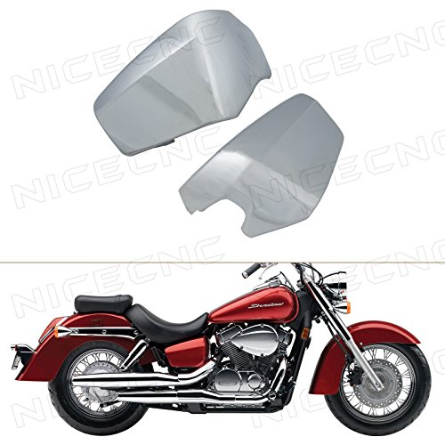 NICECNC A Pair Chrome Battery Side Fairing Covers for Shadow Aero VT400 VT750 2004-2014 2005 2006 2007 2008 2009 2010 2011 2012 2013 2014