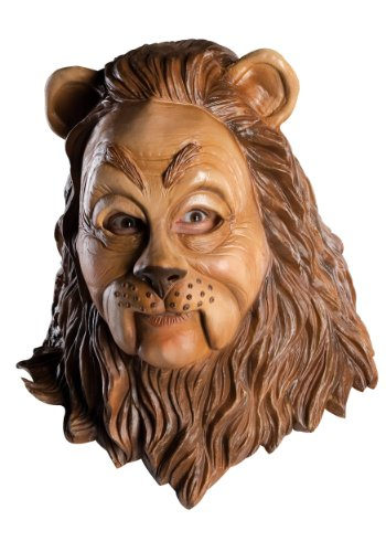 Rubie's 68225 Costume Co Wizard of Oz Deluxe Latex Mask, Cowardly Lion, One Size, Brown ()
