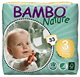 Bambo Nature Eco Friendly Baby Diapers Classic for Sensitive Skin, Size 3 (11-20 lbs), 33 Count