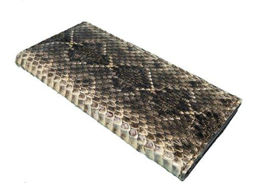 Genuine Rattlesnake Skin Wallet: Cowboy Bifold (598-W303)