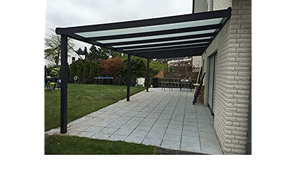 ECO LINE Ecoline - Cubierta para terraza (Aluminio, 5,06 x 3 m ...