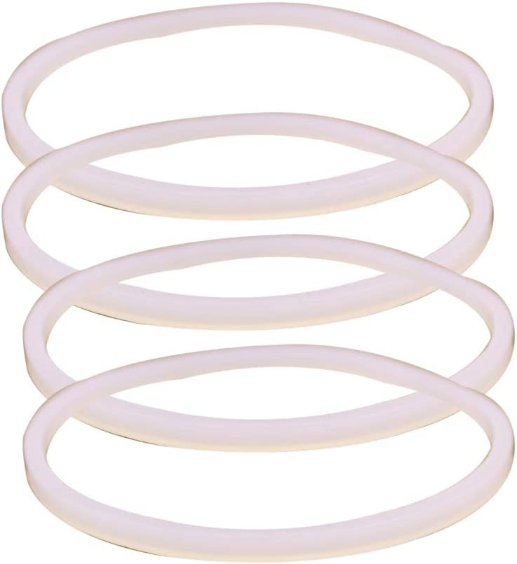 Anbige 4PCS White Rubber Sealing O-Ring Gasket Replacement Parts for Ninja Juicer Blender Replacement Seals (4 3.22inch gaskets)