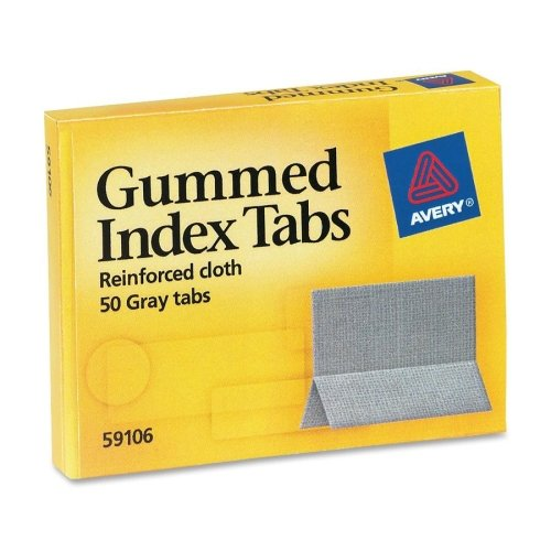 Wholesale CASE of 25 - Avery Reinforced Cloth Gummed Index Tabs-Gummed Index Tabs, 1
