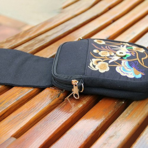 Bag Womens Profusion Multicolor Shoulder Style Ethnic Bag Phone Body Circle Embroidered Small Pouch Crossbody Bag Cross Flower ffYx4n