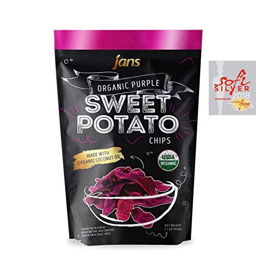 Jans Organic Sweet Potato Chips (Purple, 4.0 - Snacks Potato Sweet