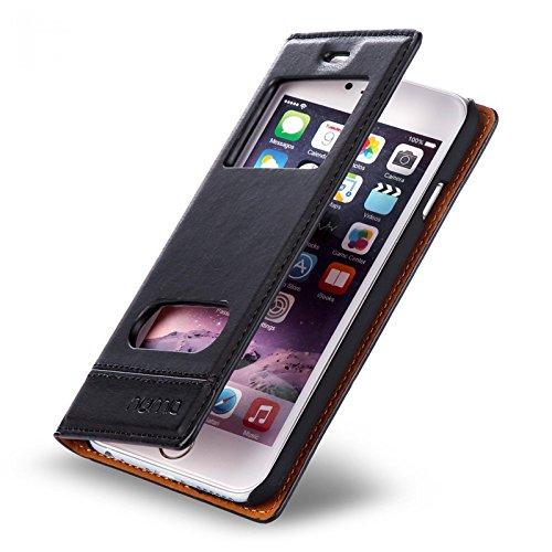 numia Handy Tasche Schutz Hülle Wallet Case Flip Cover Klapp Etui Schale Für Apple iPhone 7 Schwarz