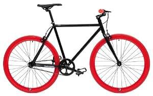 Retrospec Fixie Beta Series El Diablo Fixed Gear Single Speed Urban Road Bike (Black/Red)