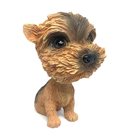 COGEEK Bobble Head Dogs Bobbing Heads Car Dash Puppy Car Decoration (Yorkshire Terrier) ()