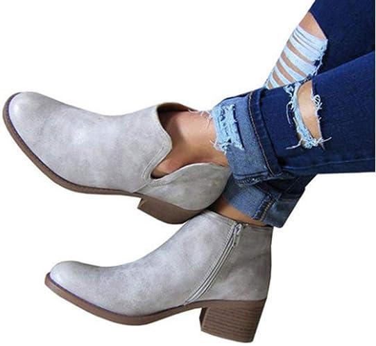 Unie Automne Hiver Chaussures Couleur Femme Bottes De EIWDH29
