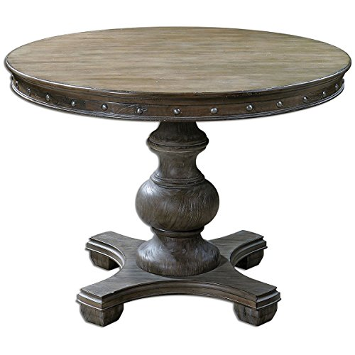 Uttermost 24390 Sylvana Wood Round Table, Gray
