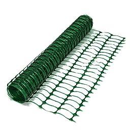 Resinet Barrier Fence OL3048100-G Lightweight Flat Oriented Barrier Fence, 370 lb. Tensile Strength, 4\' x 100\', Green