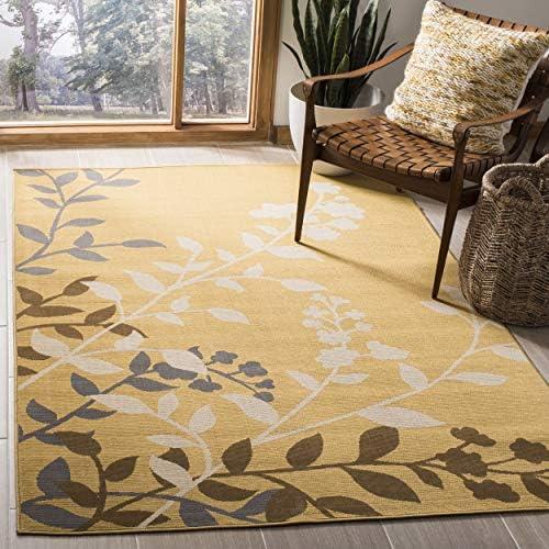 Safavieh Hampton Collection HAM551AC Camel and Ivory Indoor Outdoor Area Rug 5 1 x 7 7