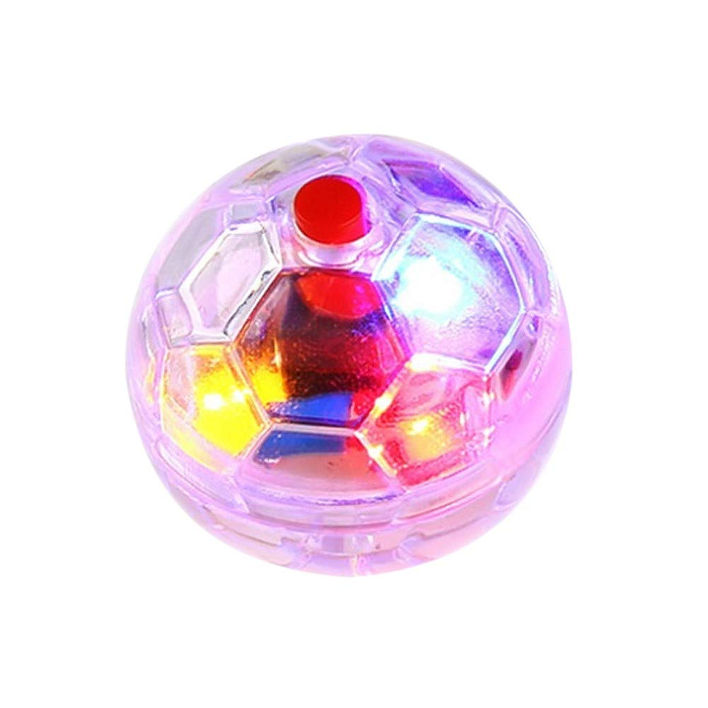 PanDaDa Pet Interactive Plastic Flashing Ball Durable LED Light Transparent Toy For Cat