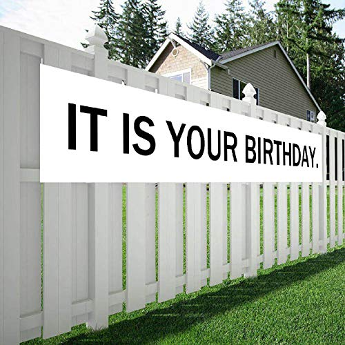 Maplelon Large Birthday Banner, IT is Your Birthday The Office Theme Party Sign, Surprise Party Decoration]()
