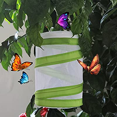 Yamix 5Pack Mini Mesh Butterfly House Butterfly and Insect Habitat Cage Butterfly Terrarium Pop-up: Toys & Games