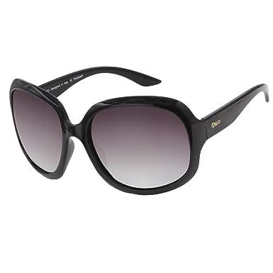 e7194bc52c Duco Women s Oversized Polarized Sunglasses 100% UV Protection 3113 (Black)