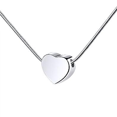 MoonLove Personalisiert Herz Anhänger Kette Damen-Kette Halskette Snake  Chain Personalisiert mit Ihrem Wunschbuchstaben  Amazon.de  Schmuck 948535c342