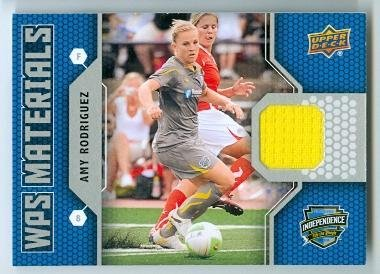 Amy Rodriguez trading card (Philadelphia Indepence USA Womens Soccer) 2011 Upper Deck #WAR Game Used Cloth - Clothes Decks