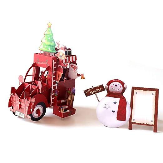 Jackyee Christmas Car 3d Up Tarjetas De Felicitación Boda